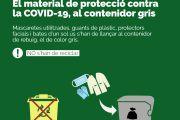 El material de protecció utilitzat contra el coronavirus s'ha de llançar al contenidor gris