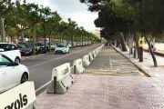 S'ha ampliat la zona de pas pels vianants en una part del Passeig del Mar