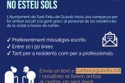 Cartes per a la gent de les residències de persones grans de Sant Feliu de Guíxols